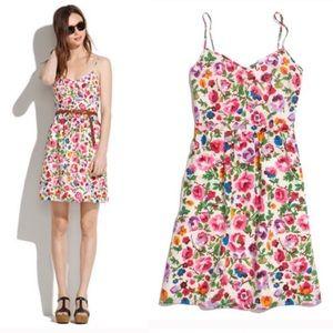 Madewell floral silk cami dress 8